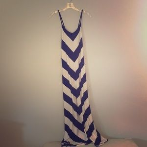 Summery striped Gap maxi dress